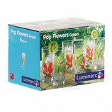 Набор стаканов высоких LUMINARC Pop Flovers Green 6 пр.