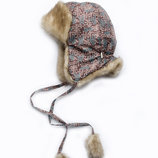 Детская зимняя шапка для мальчика Схемы коричневый