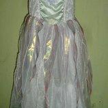 платье снежной королевы на 4-6 лет