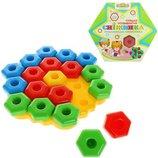 Мозаика пирамида для малышей Снежинка Тигрес 39182 вадер wader Развивающая игрушка