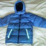 Зимняя теплая стеганая куртка пуховик TCM Tchibo, пух натуральный, р. 140. Оригинал