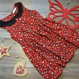 Платье с принтом Matalan 2-3 года
