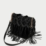 кожаная сумка мешок ZARA оригинал из Испании