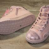 Нежно-Розовые ботиночки модель 2018 27-32р