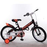Велосипед детский PROF1 18д. W18115-4 Original,черный,крылья,звонок,доп.колеса