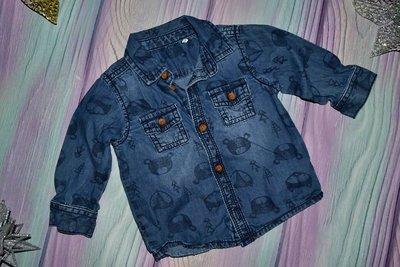 джинсовая рубашка 3-6 мес