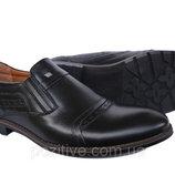 Туфли мужскиекожаные классические VivaroBlack
