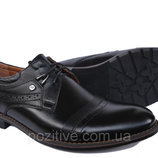 Туфли мужскиекожаные классическиена шнурках VivaroBlack