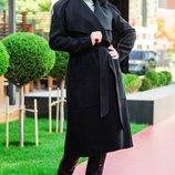 Черное длинное пальто Барселона 42-60 рр