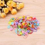 Разноцветные маркеры для вязания крючком или спицами 50 штук