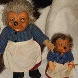 коллекционная антикварная кукла Ежиха Штайфф Steiff Германия оригинал 28 см