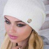 Стильная теплая шапка