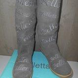 Сапоги зимние низкий каблук Belletta