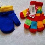 Однотонные демисезонные варежки и перчатки