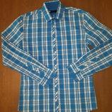 Новая Рубашка с выточками зауженной размер S, M