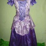 платье Рапунцель на 7- 9 лет