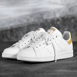 Кроссовки adidas Stan Smith white gold, р. 36-42, код mvvk-516А