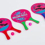Набор для пляжного тенниса 5505 2 ракетки мячик