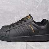 Кроссовки Superstar pure black, р. 36-43, код mvvk-994А