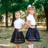 Школьные юбки на рост 116- 140 см. разные модели и цвета