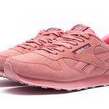 Кроссовки Reebok Classic, женские,замша,розовый