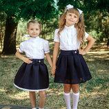 модные школьные юбки с неопрена рр.116-140 2 модели