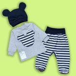 Классный утепленный костюмчик для малышей с шапочкой