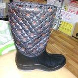 Утепленные резиновые сапоги 38-41 р. женские гумові, чоботи, непромокаемые, зимние, деми, флисе