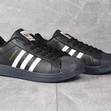 Кроссовки Adidas Superstar Black, р. 36-42, код mvvk-590А