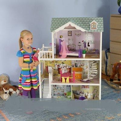 Мега большой игровой кукольный домик для барби 4108 Beverly 124см Польша.12