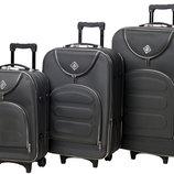 Набор чемоданов Bonro Lux 3 штуки серый