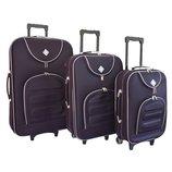 Набор чемоданов Bonro Lux темно-фиолетовый
