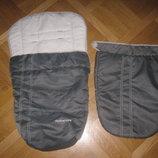 Фирменный теплый конверт-чехол в коляску Mothercare накидка на коляску