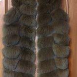 Меховая дилетка натуральный мех песца