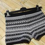Теплі стильні меланжеві шортики, розмір XS-S