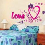 Интерьерная наклейка на стену Любовь AY9074