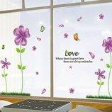 Интерьерная наклейка на стену Сиреневые цветы mAY650B