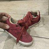 Замшевые утепленные ботиночки Zara, размер. 14