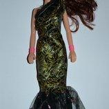 новая кукла барби в черном платье с волосами оригинал сша