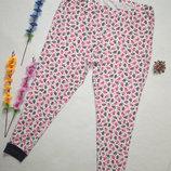 Трикотажные пижамные брюки в зимный принт большого размера высокая посадка George.