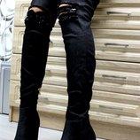 Ботфорты джинсовые, размеры