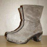 Теплые ботиночки gabor, 38,5р, нат.кожа мех, германия
