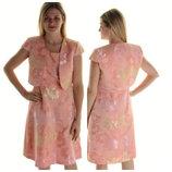 Брендовый комплект платье болеро для коктейля из жаккардовой ткани тафта 10 usa