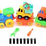 Игрушка-Конструктор паровоз со строительной техникой с инструментами