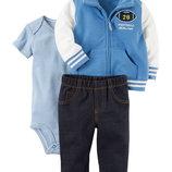 Детский трикотажный костюм на мальчика комплект 3- ка фирмы Carters