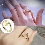 Оригинальное кольцо колечко каблучка гвоздь . Бижутерия .