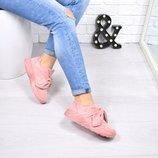 Кроссовки женские под бренд розовые