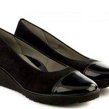 Туфли ARA Marsala ,раз 40.5, 41, 41.5, 42 Румыния,натуральный нубук ,натуральная кожа,танкетка 1.5-4