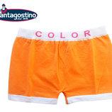 Трусы шортиками для девочек на 6-8 лет оранжевые, Santagostino Италия