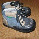 рр 22-13,9 см стильные ботинки детские KicKers кожа